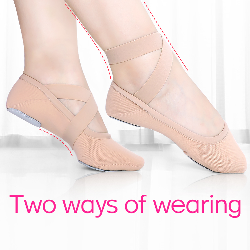 Girls Elastic Soft Ballet Dance Shoes Ballet Slippers High Stretch Women Dance Slippers(China)