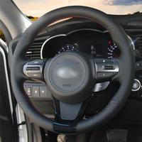 Car Steering Wheel Cover Hand stitch on Wrap Cover Car interior decoration For Kia K5 Optima 2014 2015