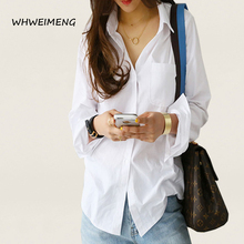 WHWEIMENG Summer Blouse Women 2020 Long Sleeve White Women Shirts
