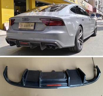 REAL CARBON FIBER REAR BUMPER TRUNK LIP SPOILER DIFFUSER For Audi A7 S7 2016 2017 2018