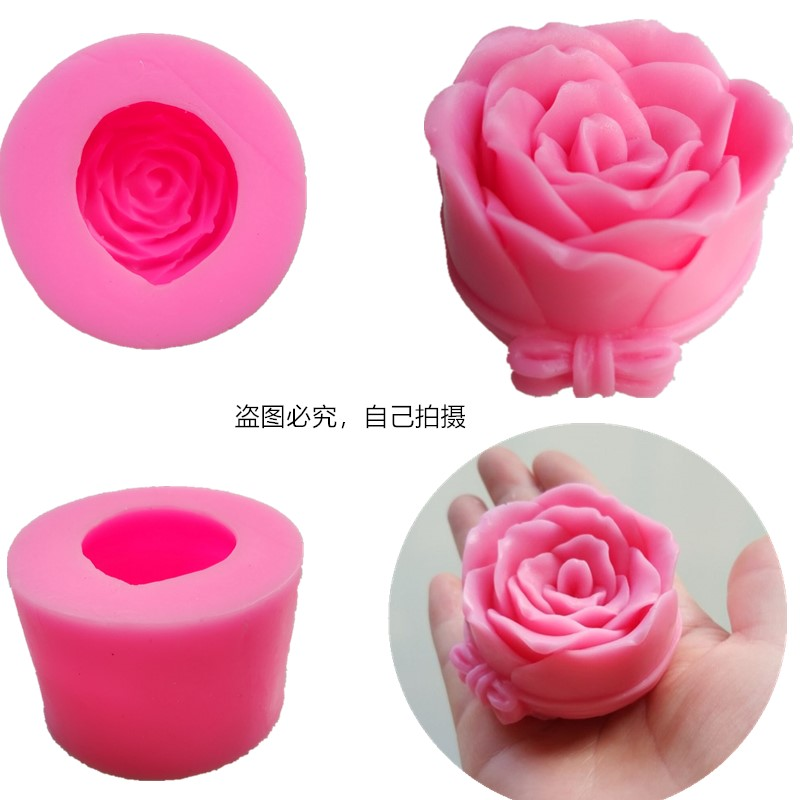 Big Silicone Mold Rose Soap Mold Flower Candle Moulds Easy To Demolding Rose Cake Molds Handmade Soap Craft For Diy Soap Maker