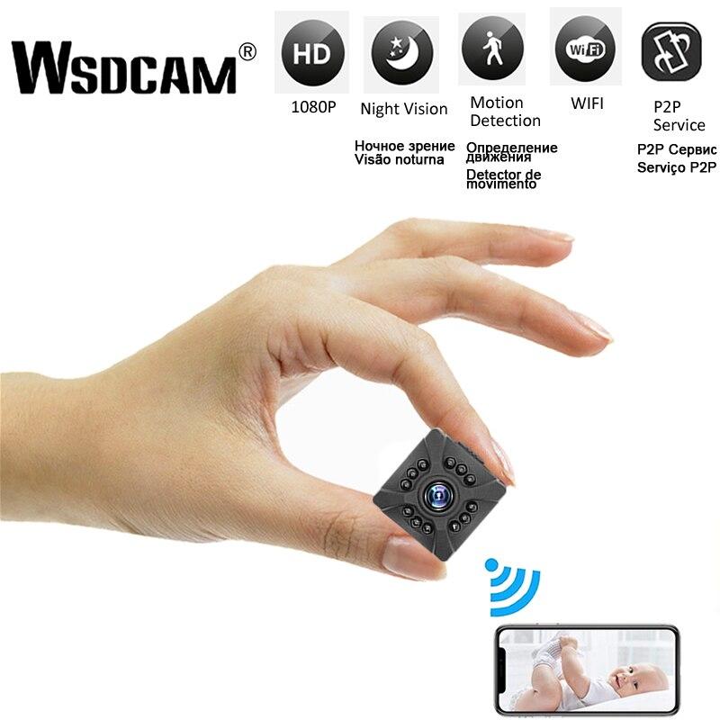 Mini câmera do ip do wifi da câmera do micro do segredo pequeno de wifi da visão noturna de x5 microcamera minicamera com sensor de movimento hd completo 1080p