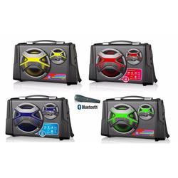 PORTABLE SPEAKER WITH KARAOKE BLUETOOTH USB SD RADIO SPEAKERS COLORS MICROFONO GTBT2