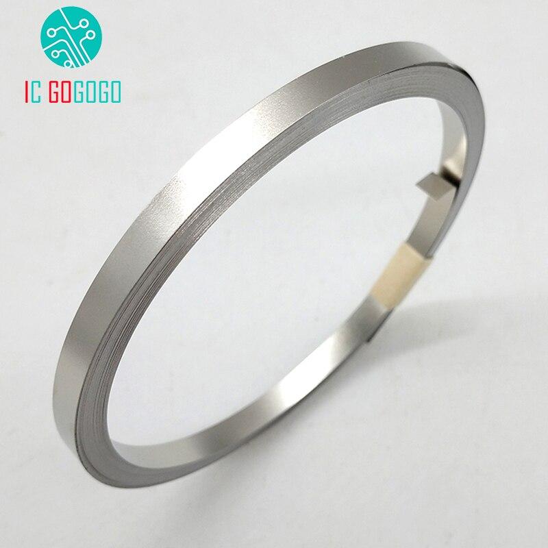 10m 18650 Li-ion batería de níquel Placa de chapa niquelada cinta de acero 0,1mm conector punto de la máquina de soldadura 3/4/5/7/8/10mm