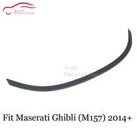 Carbon Fiber Rear Spoiler Trunk Boot Lip For Maserati Ghibli 4 door Sedan Rear Wing Spoiler 2014 +