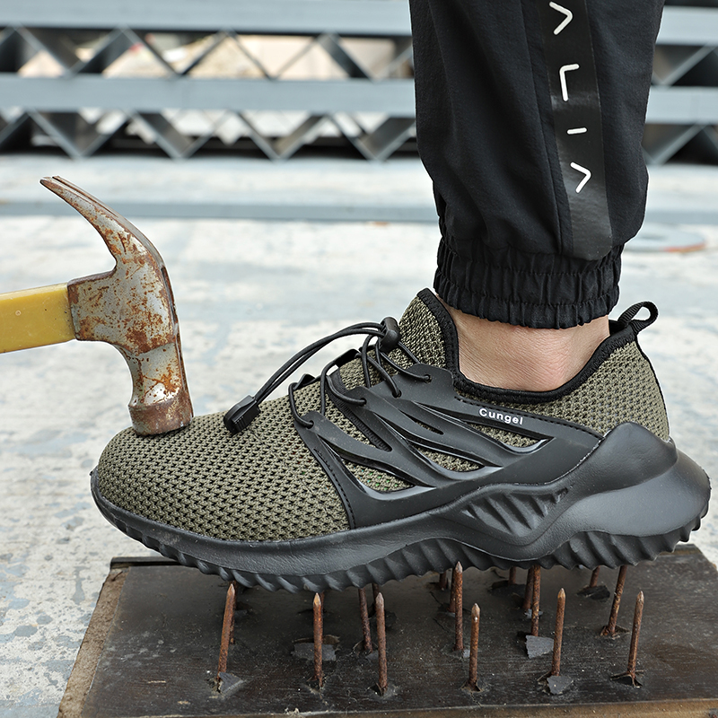 Leader Show Men Sneakers  Outdoor Labor insurance Shoes Stab Man Walking Shoes Spring Zapatos Hombre Men Sports Shoes Light