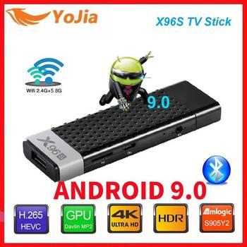 Smart TV Stick Android 9.0 TV Box X96S Amlogic S905Y2 DDR3 4GB 32GB X96 Mini PC 5G WiFi Bluetooth 4.2 TV Dongle 4K Media Player