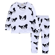 Baby Boy Clothing Pajamas Childrens Clothes Children Dog Spring and Autumn Cartoon Long-Sleeved T-shirt + Pants