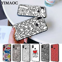 Keith Haring Silicone Case for Redmi Note 4X 5 Pro 6 5A Prime 7 8
