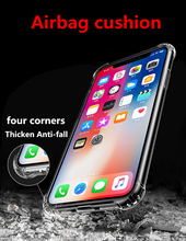 For IPhone 6 phone Case 7 8 Plus Anti-fall Case Xs Max Protective Case for Iphone 11 Pro Max Transparent soft glue Case 5c 5s 6s simple classic bumper frame case for iphone 5c yellow transparent