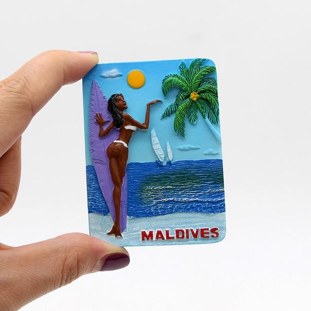 Macao malaysia maldives roma china Shanghai Disneyland Singapore switzerland Taj Mahal india 3d fridge magnets home decoration 3