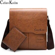 Celinv Koilm العلامة التجارية الرجال حقيبة ساع العلامة التجارية الشهيرة جلدية Crossbody حقيبة كتف للرجل الأعمال حمل الحقائب رائجة البيع