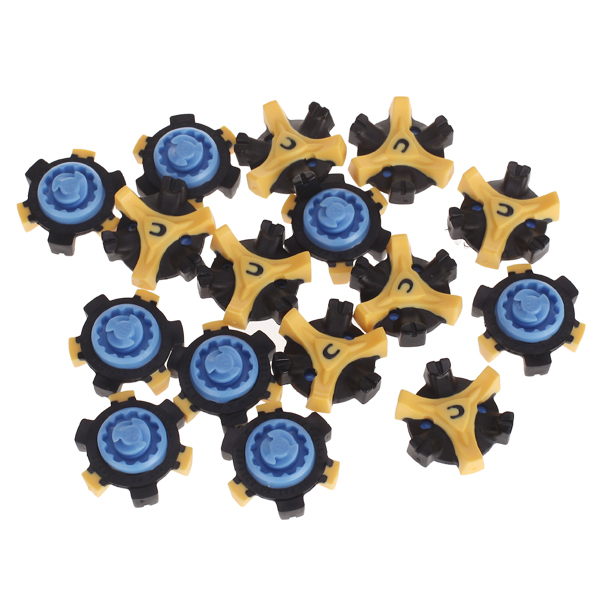 16pcs Golf Shoes Soft Spikes Pins TPR Tri Lok Stinger Spikes Turn Fast Twist Shoe Spikes Replacement Set Golf Training Aids