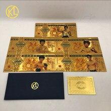 Notas coloridas do dragão de bruce lee 10000 da cédula de 5 tipos ajustadas para o presente da coleção