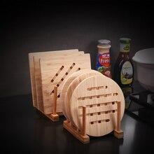 Wooden Bamboo Table Mat Kitchen Pad Mat Non-slip Insulation Heat Holder Stand Hot Mats Kitchen Insulation Pot Mat