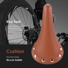 Asiento de bicicleta de cuero Retro Vintage, asiento de bicicleta de carretera, asiento de bicicleta de montaña, asiento de bicicleta negro marrón, asiento de bicicleta