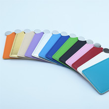 50PCS customize,logo print Cosmetic mirror Stainless steel indestructible small