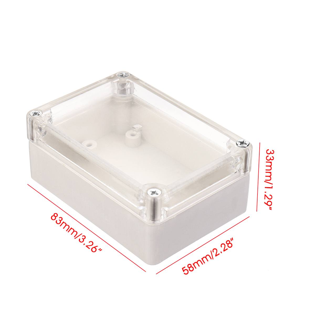 83x58x33mm Plastic Waterproof Electronic Project Box Enclosure Cases