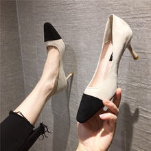 Женские туфли на высоком каблуке привлекательные бархатные лапши