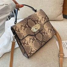 Fashion Serpentine Womens Handbags Designer Shoulder Bags Luxury Snake Pu Leather Crossbody Classic Small Flap Lady Purses