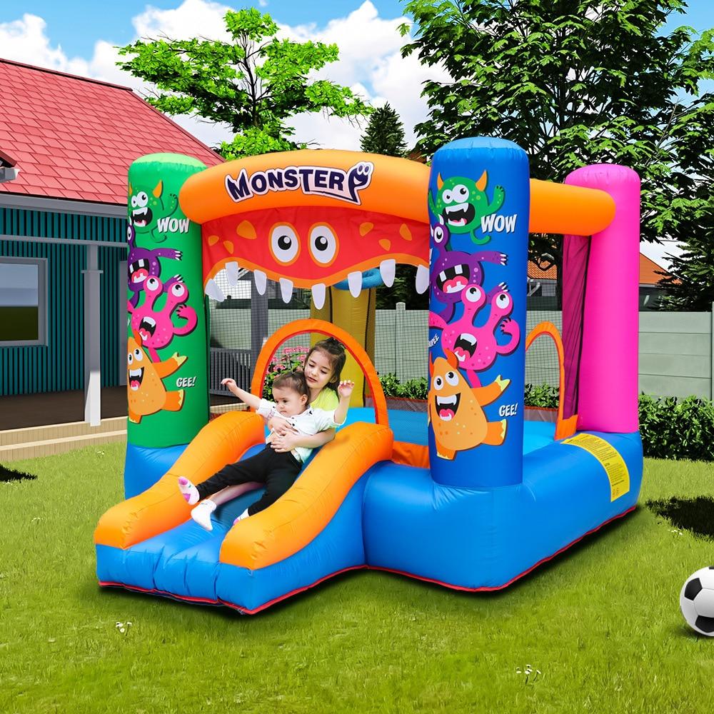 maison gonflable de rebond de theme de vacances chateau plein d entrain avec le ventilateur d air pour la partie d enfants maison de jeu chateau