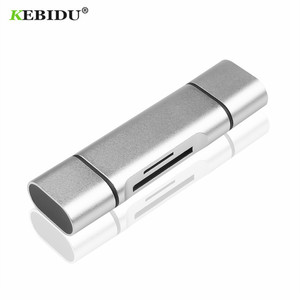 KEBIDU 5-in-1 Type C OTG Memory Card Reader with USB female interface For PC USB 2.0 Read TF Smart Cardreader