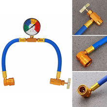 New R134A Air Conditioning Recharge Measuring Hose Gauge Valve Refrigerant Pipe Auto Car Air-conditioning Accessories