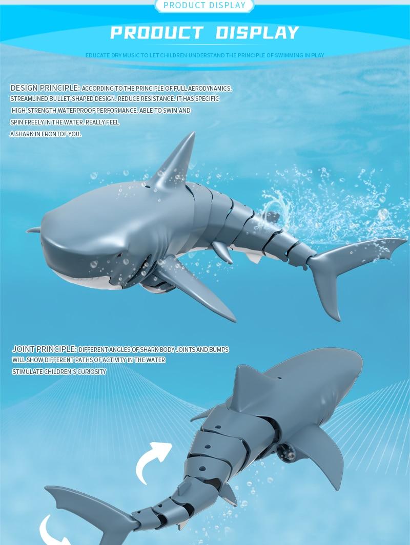 Tubarão de controle remoto 2.4g à prova