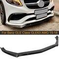 Спойлер для переднего бампера из углеродного волокна для Mercedes-Benz GLE Class CLE63 AMG 2015 - 2018 автомобильный передний бампер спойлер для губ фартук для...