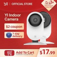 YI cámara de seguridad IP para interiores sistema de vigilancia con visión nocturna para el hogar/oficina/Bebé/niñera/Monitor de mascotas YI Cloud, 1080p