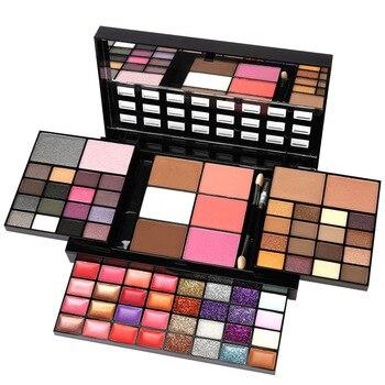 Conjunto de maquillaje para principiantes, caja de maquillaje de 74 colores, Kit de combinación para mujer, sombra de ojos, lápiz labial, brillo de labios, Kits de maquillaje de base de colorete 1