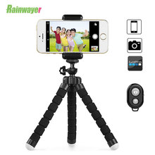 Hot Sale Portable Tripod Sponge Octopus Holder For iPhone Smartphone  Flexible Tripod for Huaiwei With Clip Mini Remote Shutter