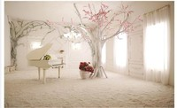 Custom 3d Mural Wallpaper Fantasy silk frame plaid TV background wall Home Decor Living Room Wall Covering