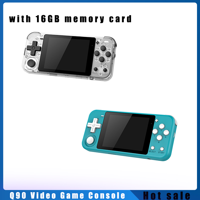 Q90 Retro Video Game Console Portable Handheld Game Player Joystick 3.0 Inch Color Screen With 16G TF Card Built-in 3000 Games