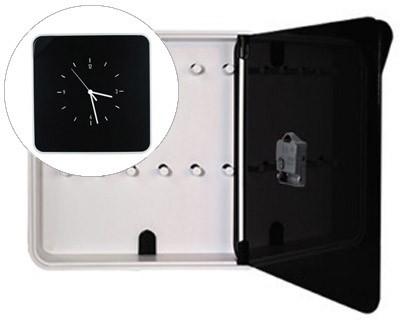WARDROBE PLASTIC Portallaves PAPERFLOW WITH WATCH FOR 12 KEYS 320X60X320 MM BLACK