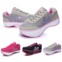 Women Slimming Shoes Stovepipe Body Sculpting Vulcanized Shoes Orthopedic Shoes Negative Heel Sneakers Zapatillas Mujer