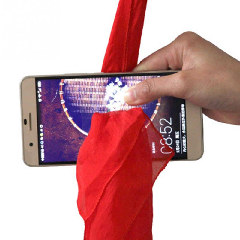 Funny Silk For Magicians Scarf Through The Phone Scarf Close-up Magic Prop Trick Toys Stage Tools