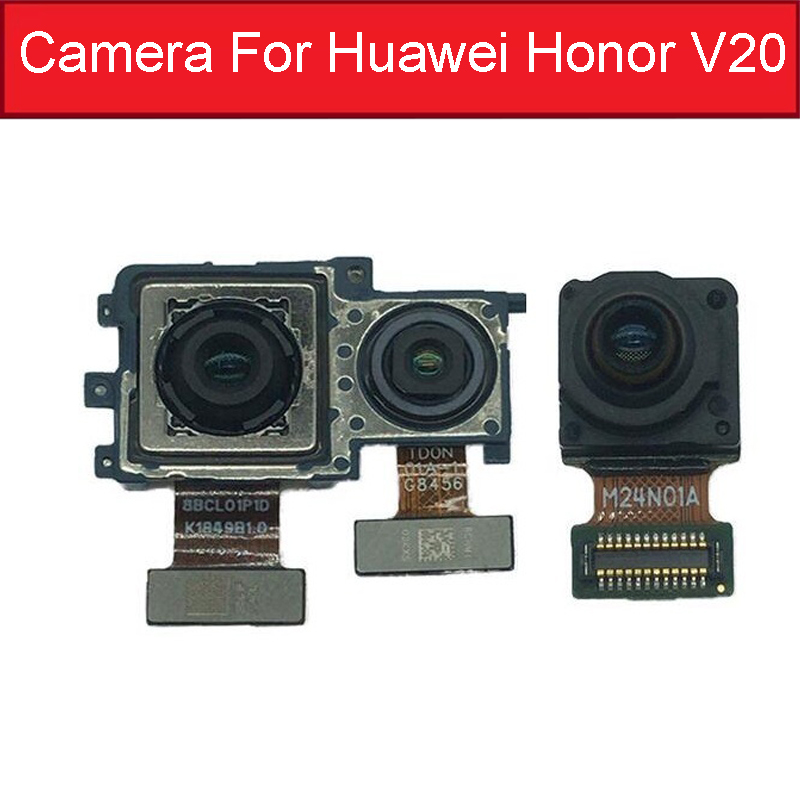 Front Rear Camera For Huawei Honor V20 PCT-L29 Small Facing & Main Back Camera Flex Cable For Honor View 20 Replacement Parts