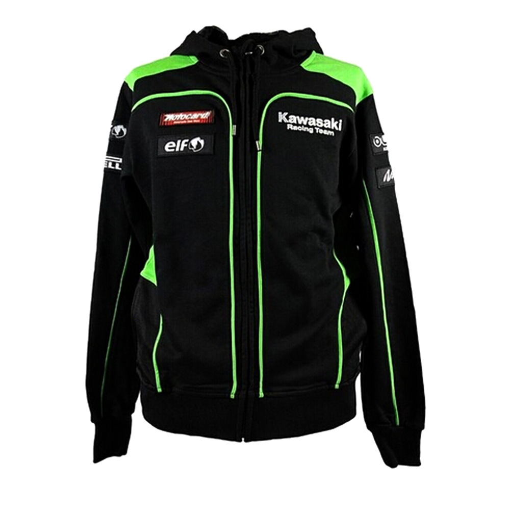 Kawasaki Motorcycle Hoodie Riding Coat Off-road Fans Racing Suit Men And Women-Knight Casual Sweatshirt