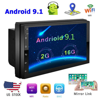 Universal 2din Android 9.1 Car Radio Multimedia Player GPS Navigation 7'' HD Car Audio Stereo Autoradio for VW Golf Kia Toyota image