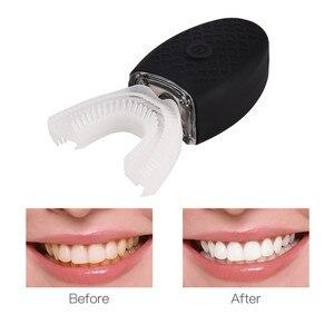 Image 5 - 360 องศา NANO ไฟฟ้าแปรงสีฟันสีฟ้าแสงอัตโนมัติ Ultrasonic WAVE กันน้ำ U ประเภทฟันแปรงชาร์จ USB