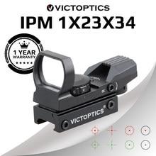 Vicoptics ipm 1x23x34 red dot scope caça riflescope 21mm 20mm weaver reflex colimador vista para airsoft. 223