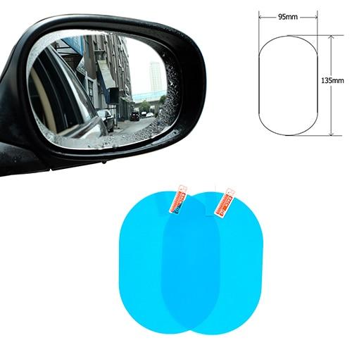 Автомобильное Зеркало окно прозрачная пленка анти-туман заднего вида зеркальная защитная пленка Водонепроницаемый автомобиля Стикеры 2 шт./компл - Название цвета: 95-135