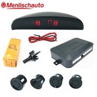 4 센서와 자동 Parktronic LED 주차 센서 역방향 백업 자동차 주차 레이더 모니터 감지기 시스템 디스플레이