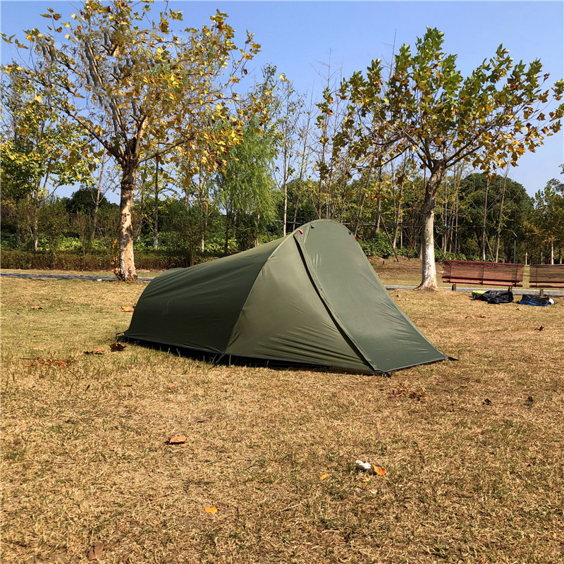 Updated Version Ultralight 2 Person Backacpking Tent,CZX-348 Army Green 2 Person Swag Tent,2 Person Army Green Camping Tent