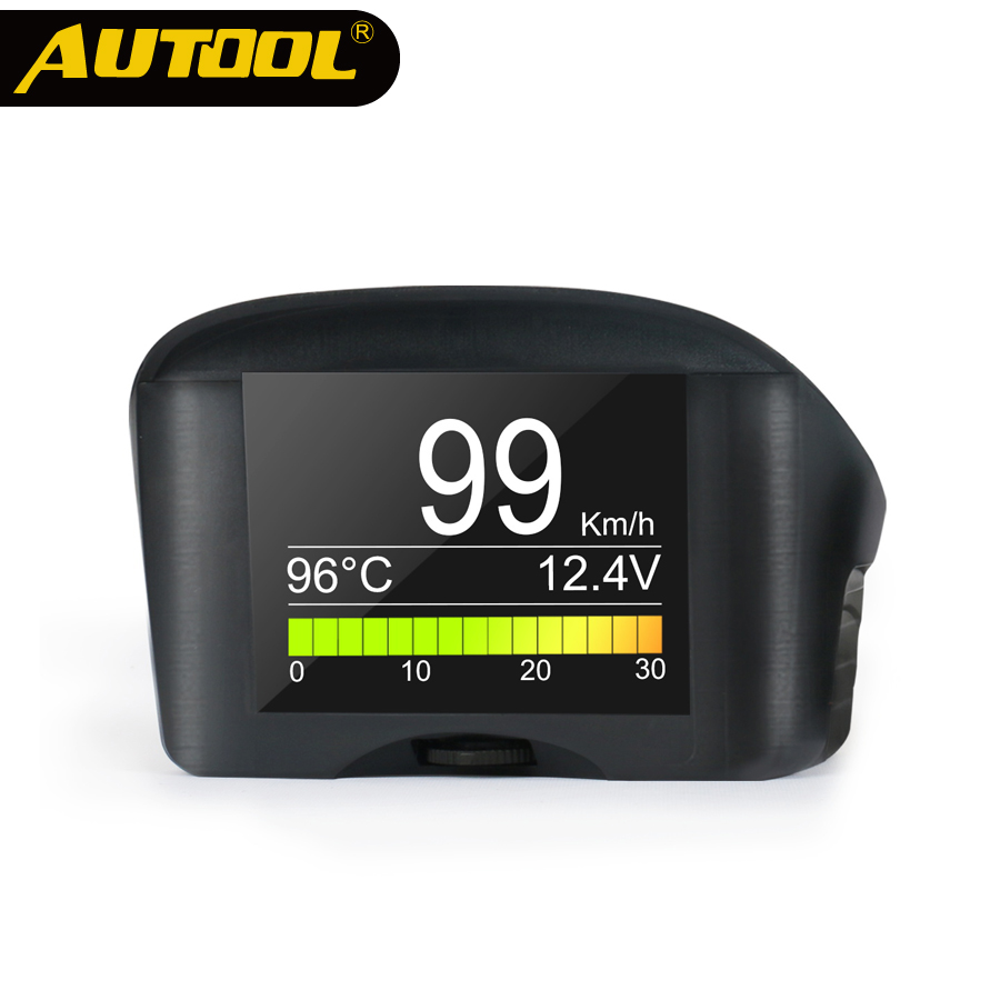 AUTOOL X50 Plus Multi-Function Car OBD Smart Digital Meter Alarm Water Temperature Gauge Digital Voltage Speed Meter Display