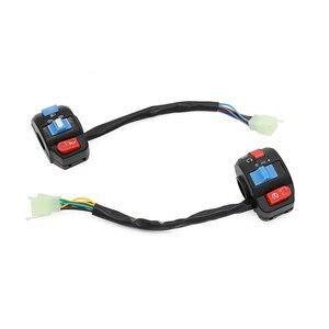 Image 2 - Interruptores de controle do guiador chifre botão sinal volta farol interruptor início para chinês scooter gy6 4 stroke taotao jcl znen bms