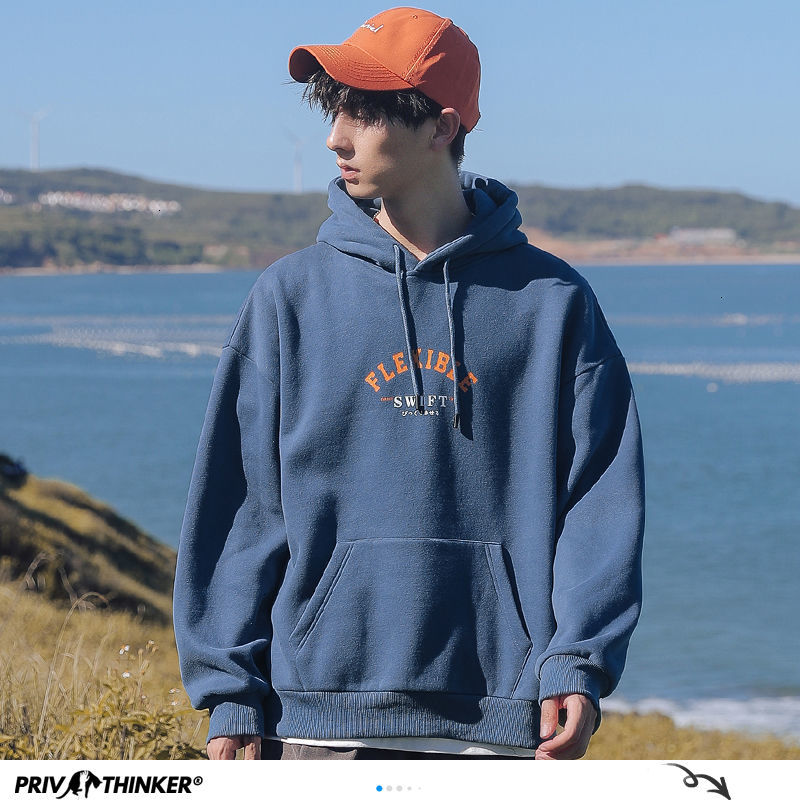 Privathinker Autumn New Men Casual Hoodies 8 Colors Hooded Sweatshirts For Men Streetwear Man Oversized Pullovers Tops