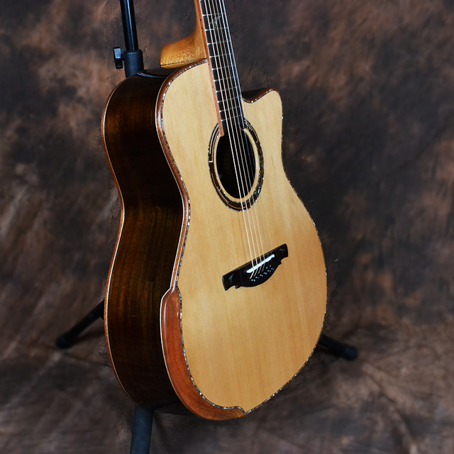Dadarwood TR3100C handmade red pine solid top, rosewood solid sides and back, 41cutaway acoustic guitar 4