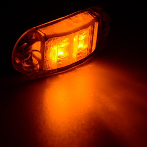Image 5 - 10 قطعة العنبر 2LED DC 10 V 30 V مقطورة سيارة شاحنة الجانب ماركر ضوء التخليص مصباح للماء الجانب ماركر مؤشر مقطورة ضوء